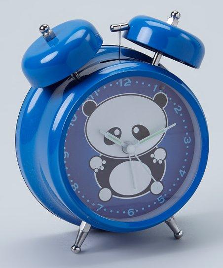 Blue Panda Alarm Clock