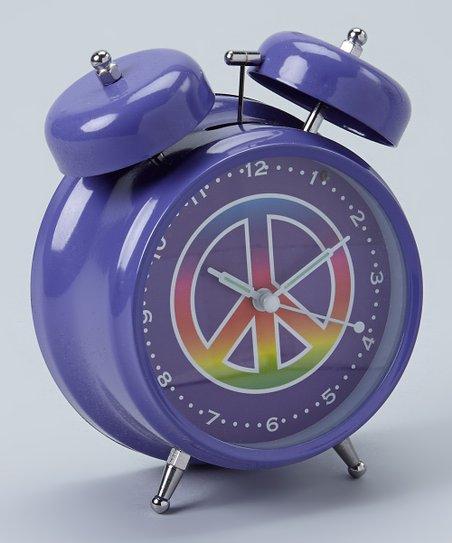 Purple Peace Alarm Clock