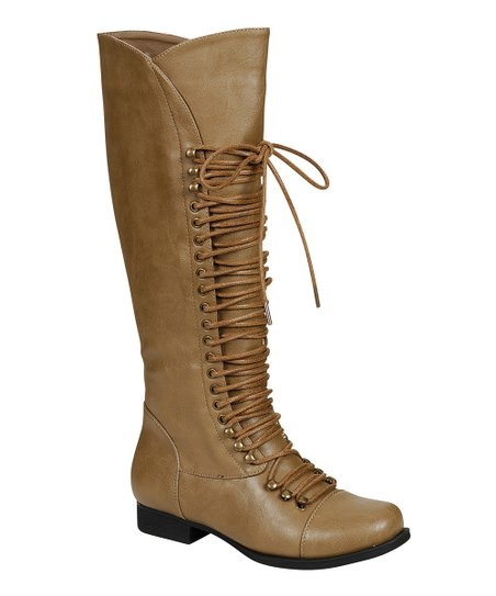 Taupe High Mae Boot
