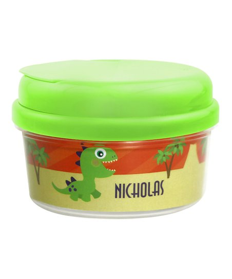 Cute Baby Dinosaur Personalized Snack Container