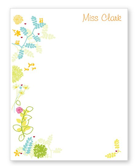 Flowers Personalized Notepad