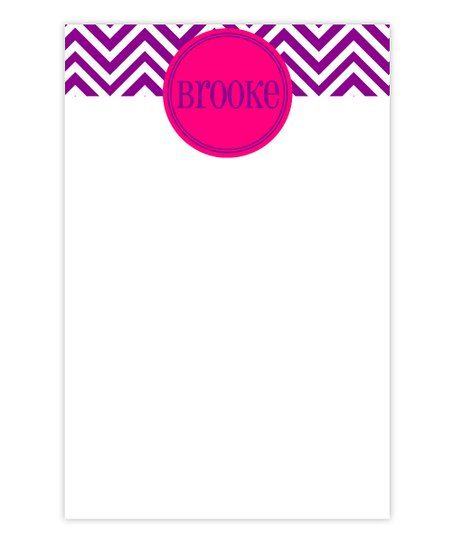 Purple Zigzag Personalized Notepad
