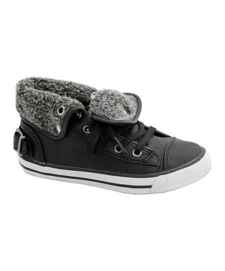 Black Fleece Fold-Down Sneaker - Boys