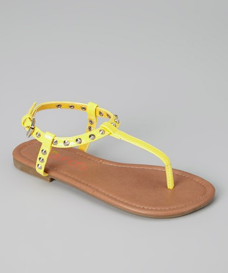 Yellow Angie Sandal - Kids