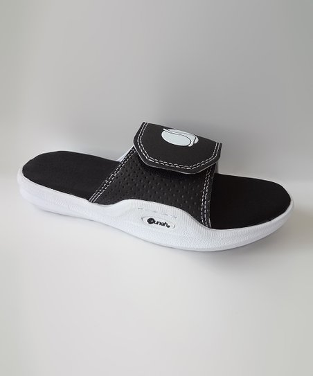Black Memory Foam Super Slide