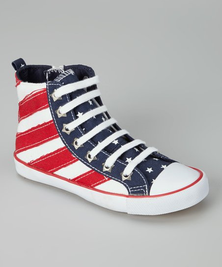 Stars & Stripes High-Top Sneaker - Kids