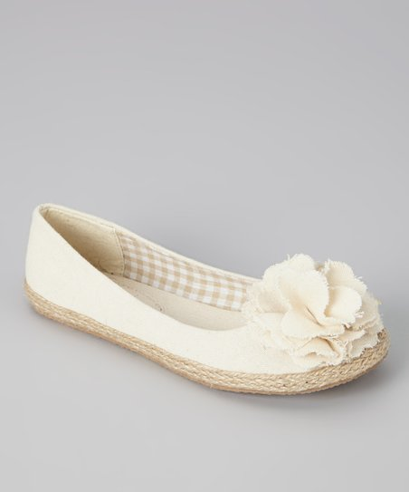 Beige Lulu Flat - Girls