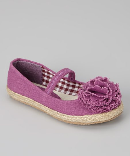 Purple Lulu Strap Flat - Girls