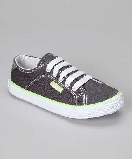 Gray Gants Suede Sneaker - Kids
