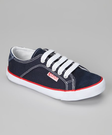 Navy Gants Suede Sneaker - Kids