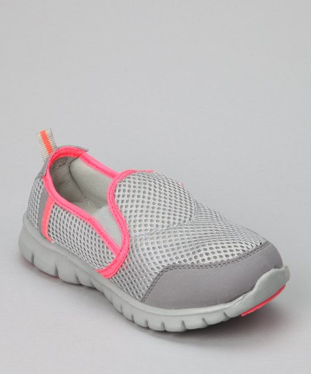 Gray & Coral Splashers Slip-On Shoe - Kids