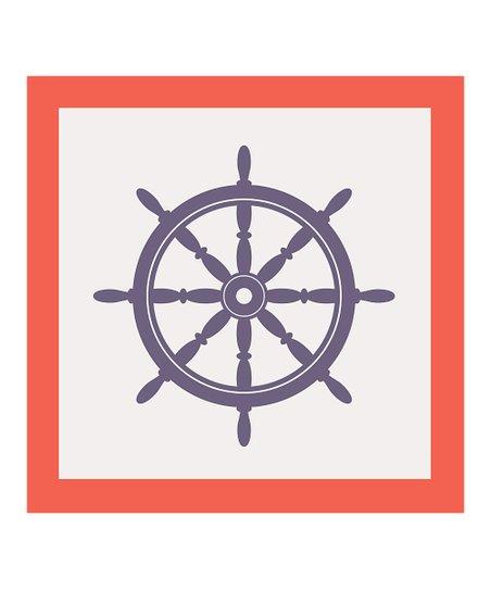 Nautical Wheel Canvas Wall Art