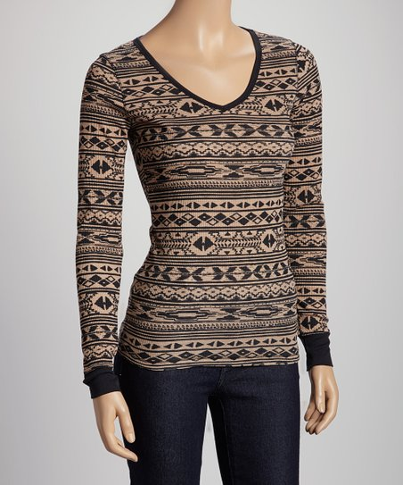 Taupe Tribal Thermal