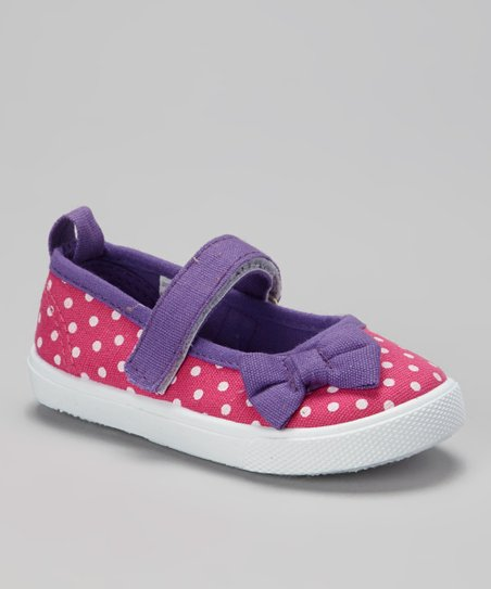 Purple & Fuchsia Polka Dot Mary Jane Sneaker