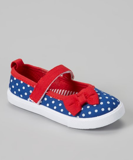 Red & Blue Polka Dot Mary Jane Sneaker