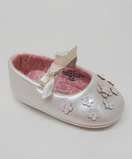 Ivory Floral Flat