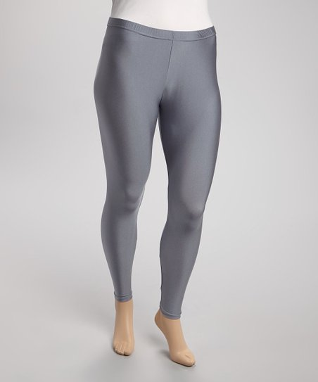 Charcoal Liquid Leggings - Plus