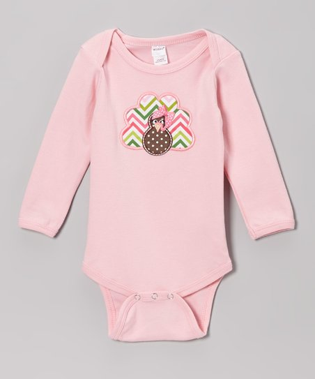 Pink Turkey Bodysuit - Infant