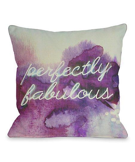 Purple 'Perfectly Fabulous' Throw Pillow