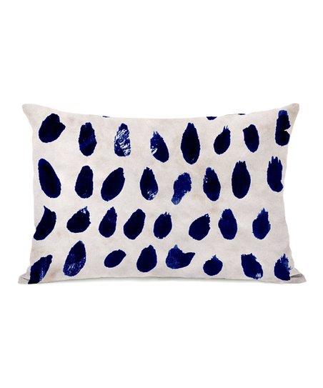 Blue Marismas Rectangular Throw Pillow