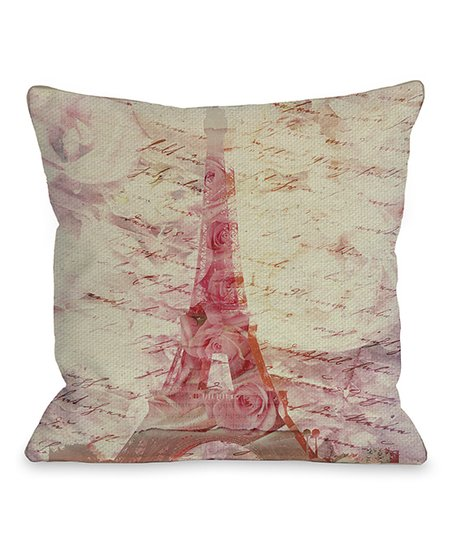 Pink Love Letters Throw Pillow