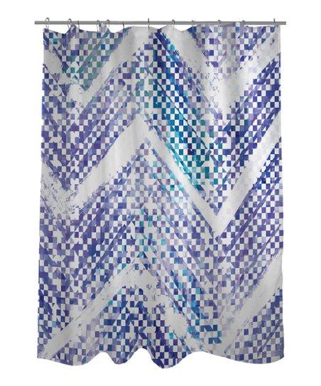 Blue Isolee Shower Curtain
