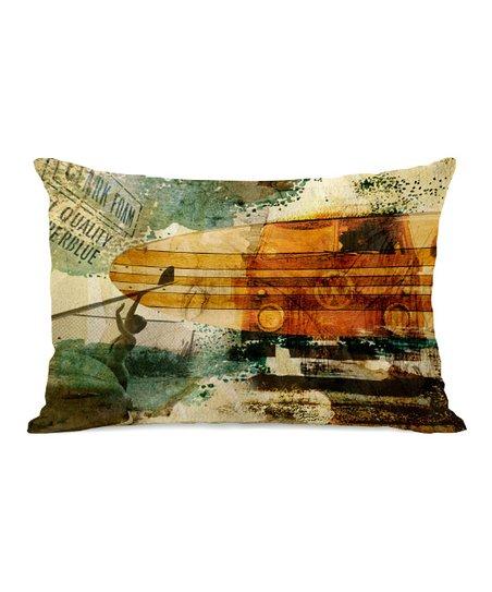Quality Superblue Rectangular Throw Pillow