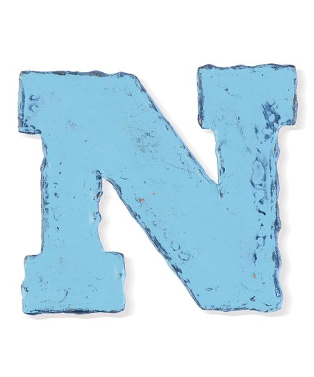 Light Blue 'N' Cutout Magnet - Set of Six
