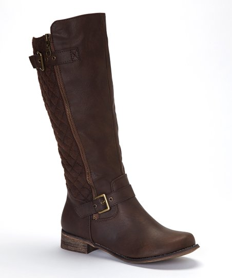 Brown Buckle Grace Boot
