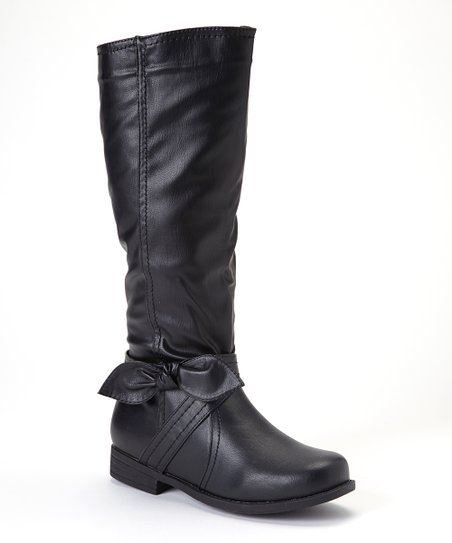 Black Bow Boot