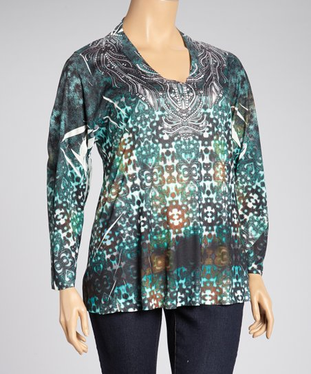 Tempting Release Sublimation Tunic - Plus