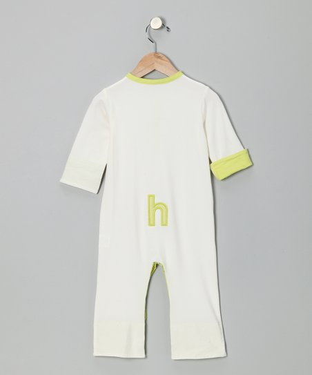 White & Lime Initial Playsuit - Infant & Toddler