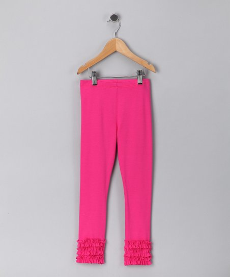 Fuchsia Ruffle Leggings - Toddler