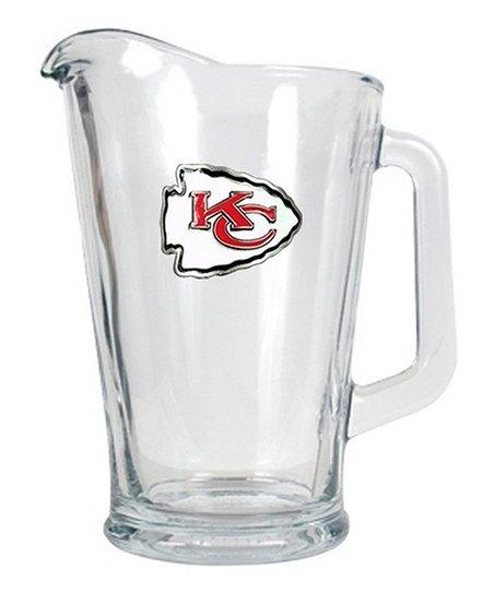 Kansas City Chiefs Glass Beverage Pitcher