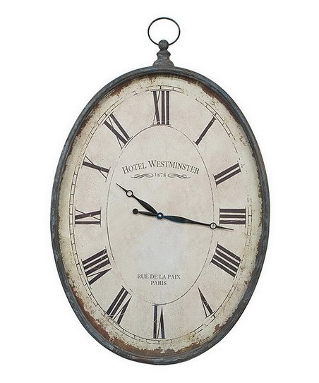 'Hotel Westminster' Oval Wall Clock