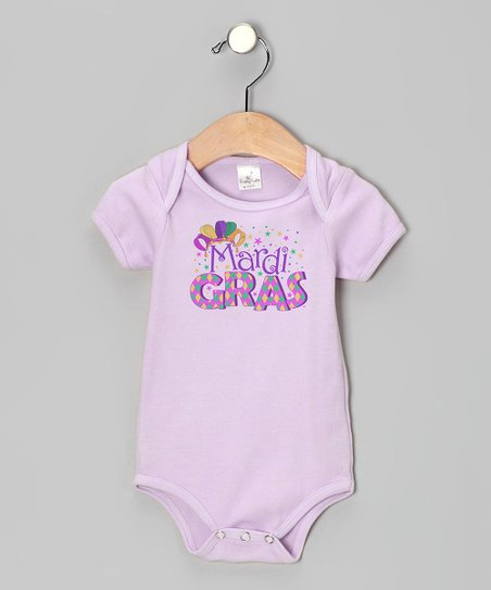 Purple 'Mardi Gras' Party Bodysuit - Infant