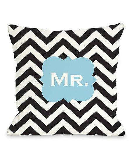 'Mr.' Zigzag Throw Pillow