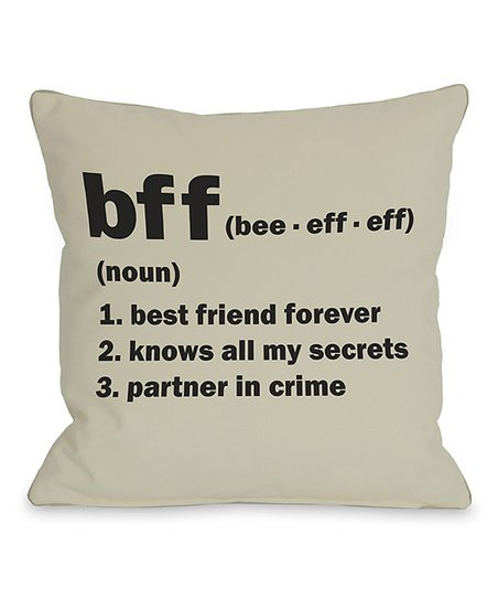 'BFF' Definition Throw Pillow