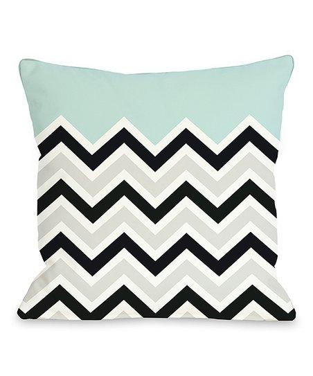 Light Blue Zigzag Throw Pillow