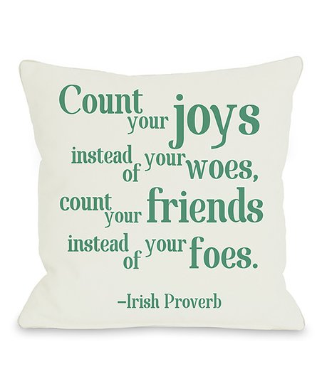 'Count Your Joys' Throw Pillow