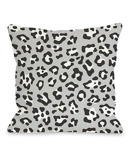 Black & White Cheetah Gabriella Throw Pillow