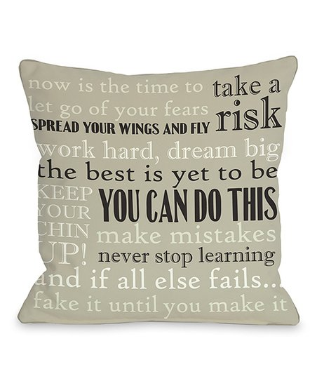 'You Can Do This' Throw Pillow