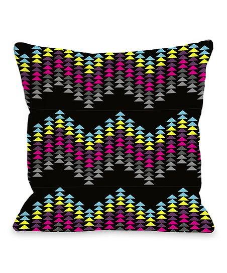Triangle Zigzag Throw Pillow