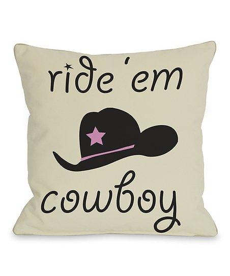 'Ride Em' Cowboy' Throw Pillow
