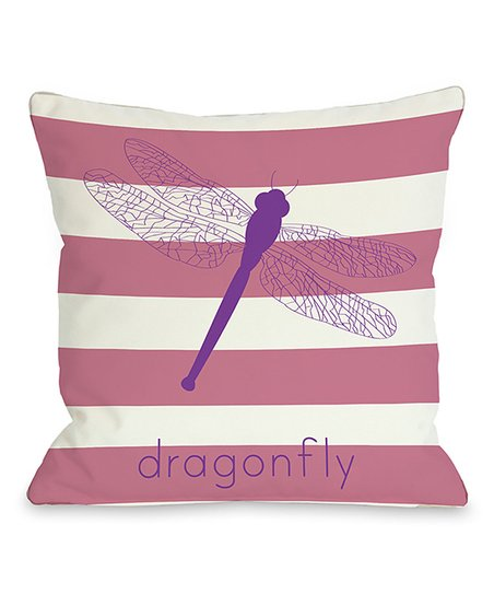 'Dragonfly' Throw Pillow