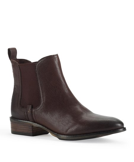 Wine Leather Averly  Bootie