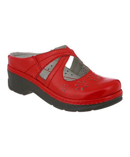 Red Carolina Clog