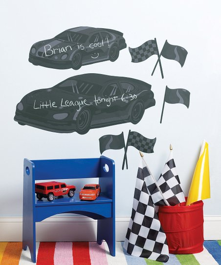 Fast Cars Chalkboard Wall Decal Set