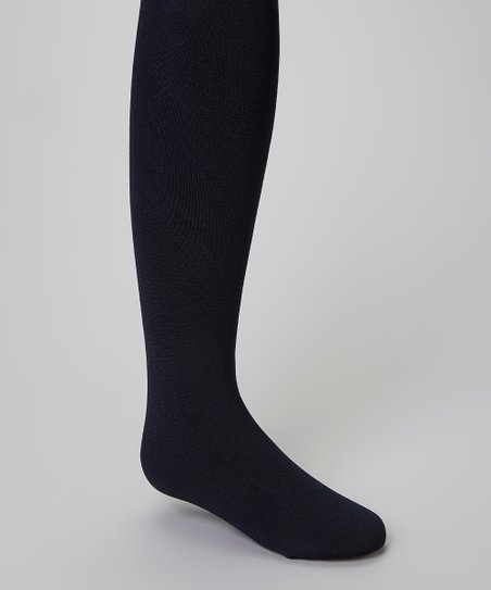 Navy Fleece-Lined Tights - Infant, Toddler & Girls