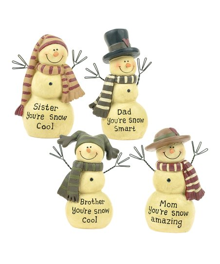 Snow Family Figurine Set